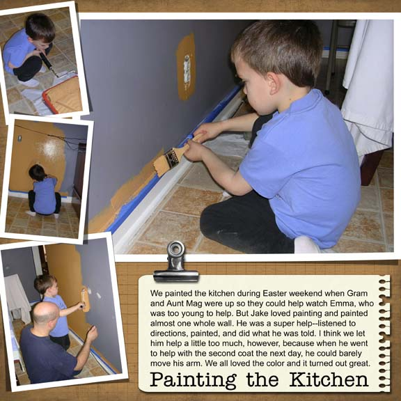 Painting the kitchen