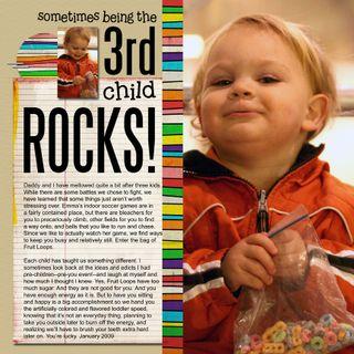 3rd child rocks
